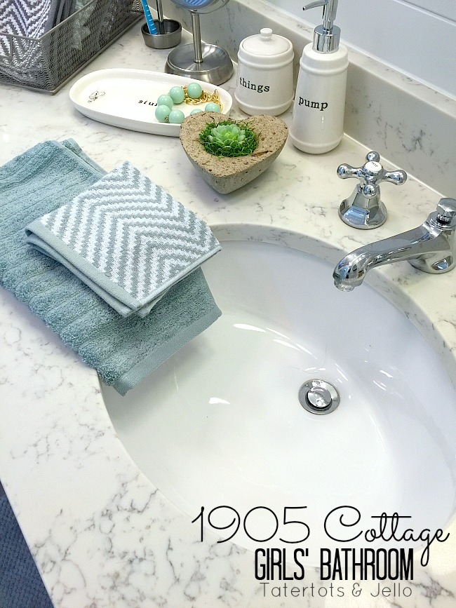 1905 Cottage Addition Girls Shared Bathroom Reveal And 100 Walmart Giveaway Tatertots Jello