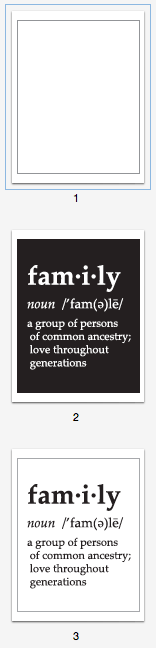 family generations printable