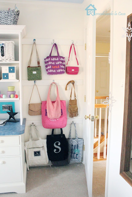 behind the door tote bag storage