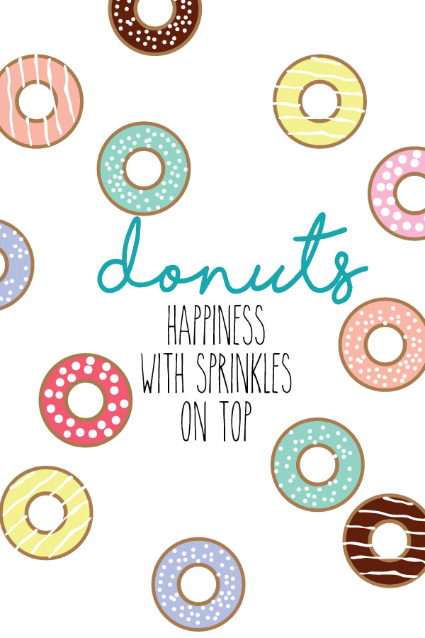 Donuts with Sprinkles Printable