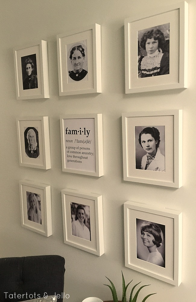 Family Generation Gallery Wall and Printables