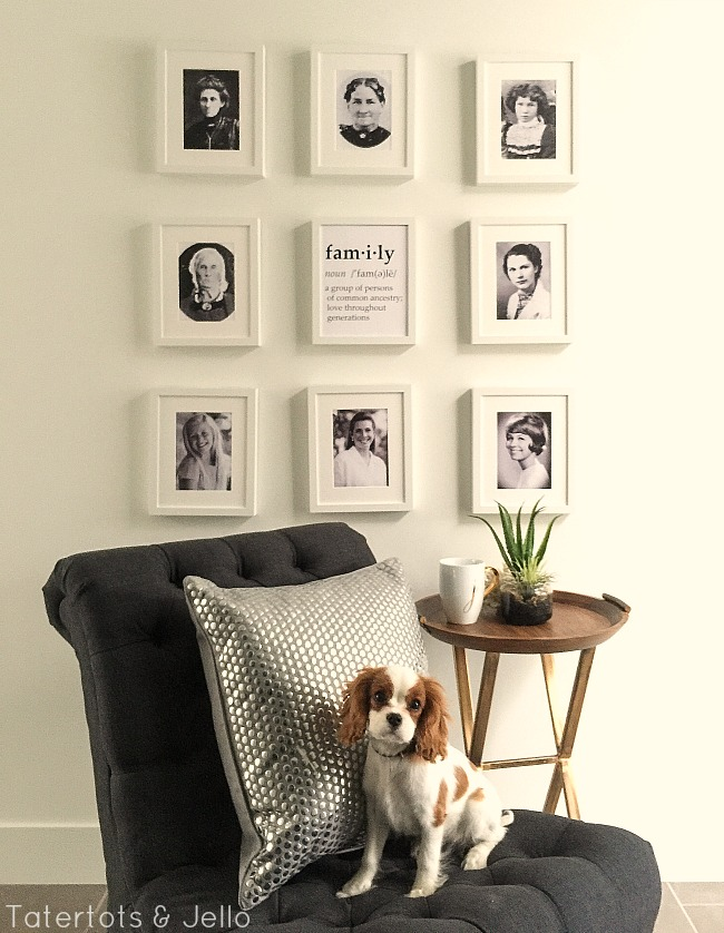 family generation gallery wall and free family printables