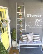 Spring Ladder Flower Pot Planter