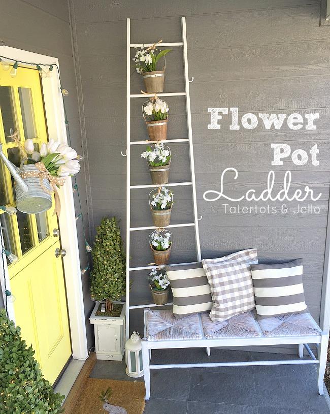 flower pot ladder planter