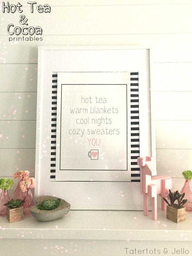 hot tea and hot chocolate printables