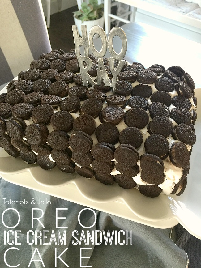 Oreo Ice Cream Sandwich Cake Tatertots And Jello