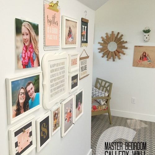 master bedroom gallery wall tips