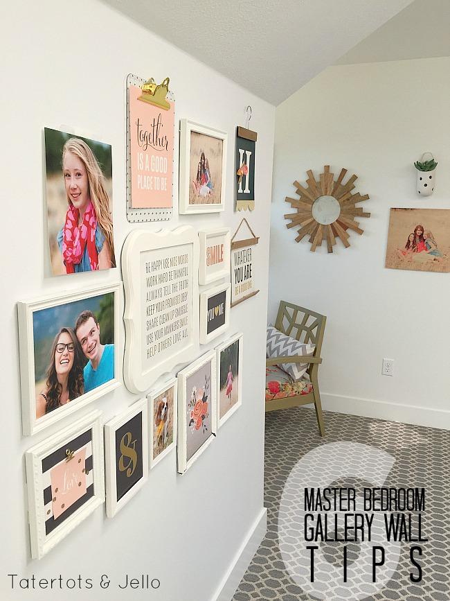 master bedroom gallery wall tips