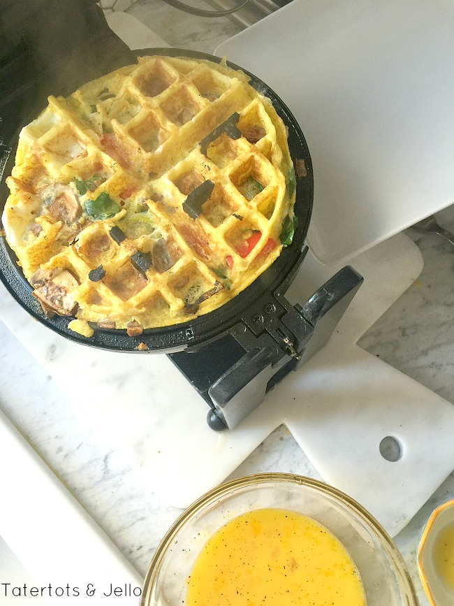 using a waffle iron to make omelets