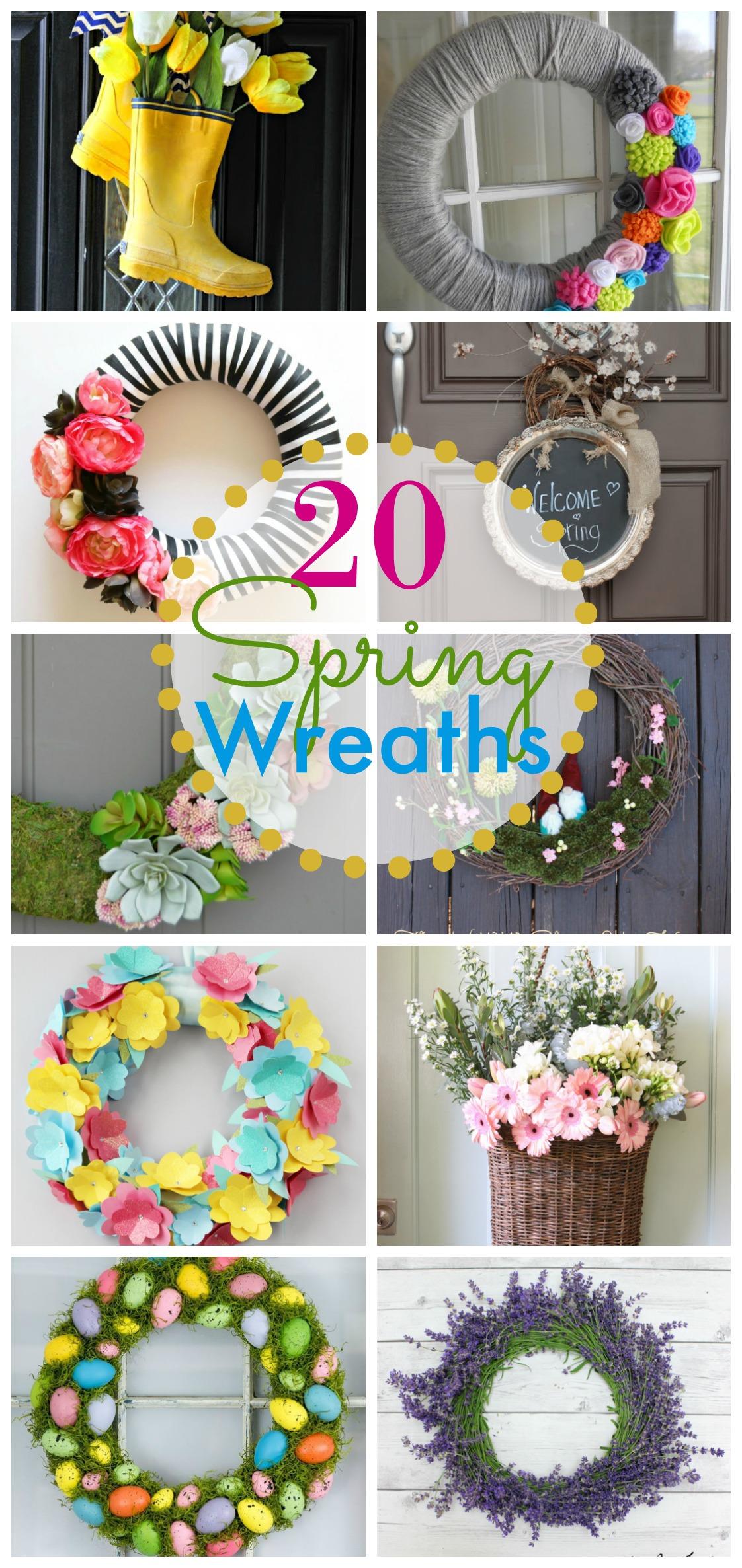 20 Spring Wreath Ideas