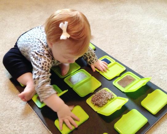 Peek a Boo Toddler Sensory Board