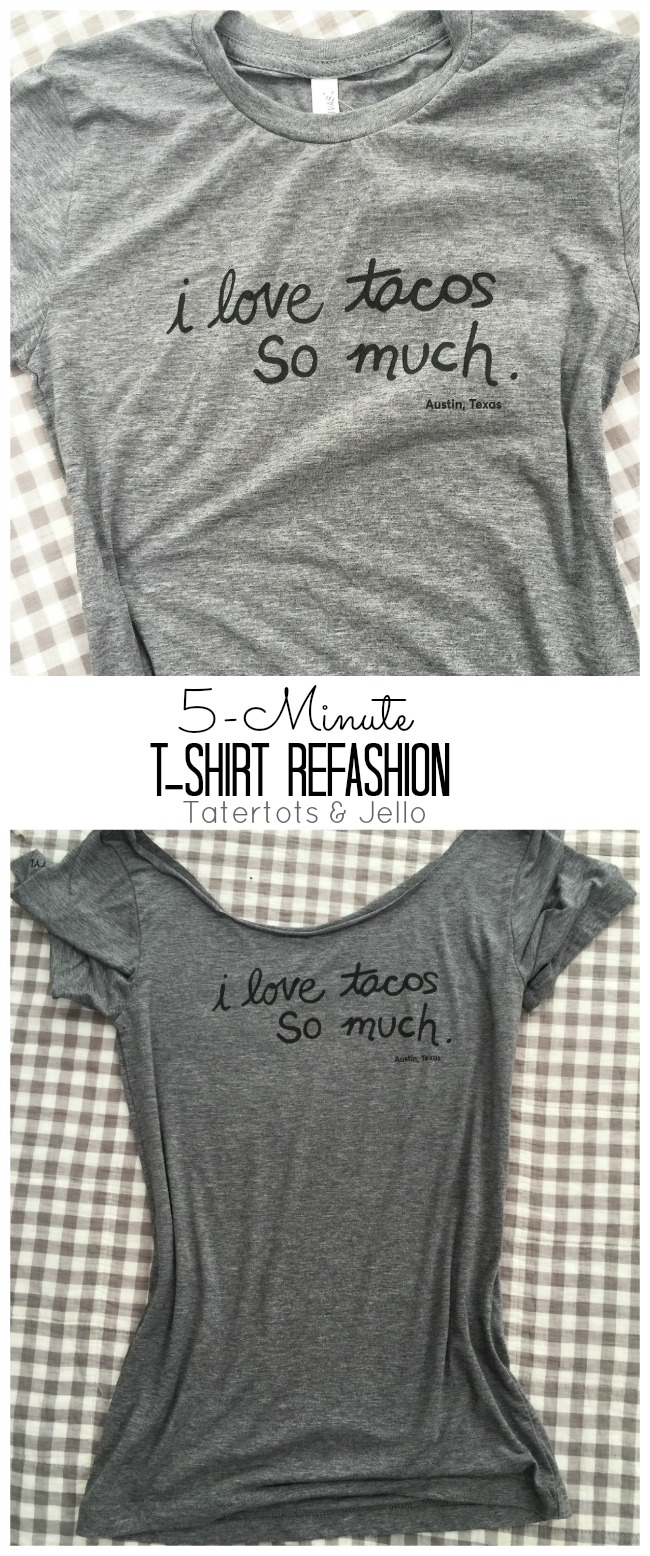 5 miute t-shirt collar refashion