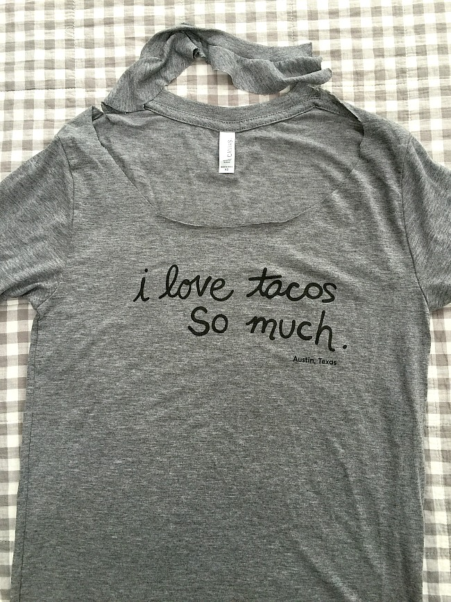 t-shirt neckline refashion
