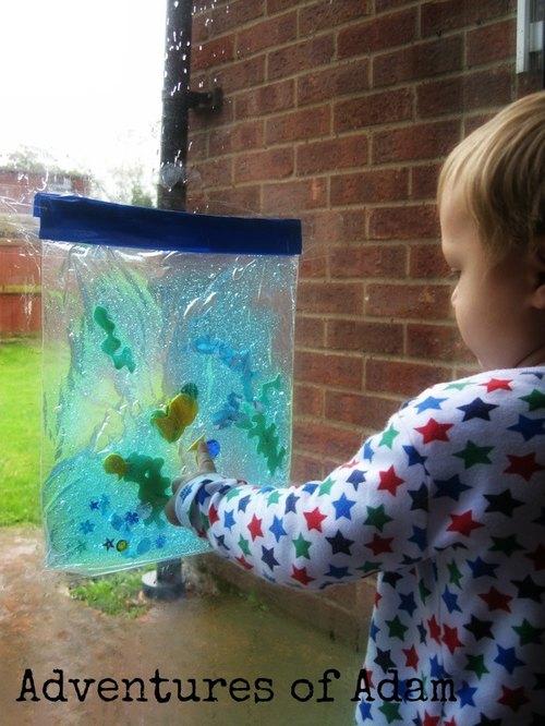 Fish Tank Sensory Bag Toddler Quiet Time Idea