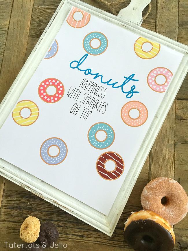donuts happy with sprinkles free printables