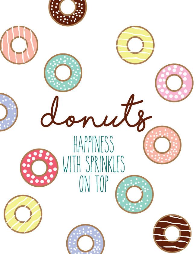 donut sprinkles printable