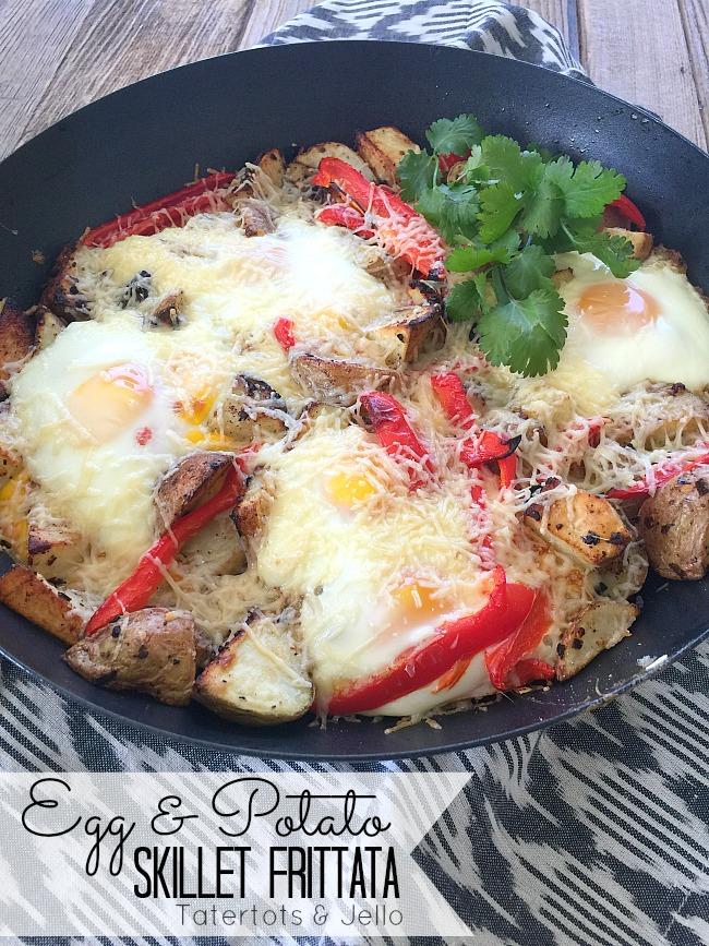 Egg and potato skillet frittata