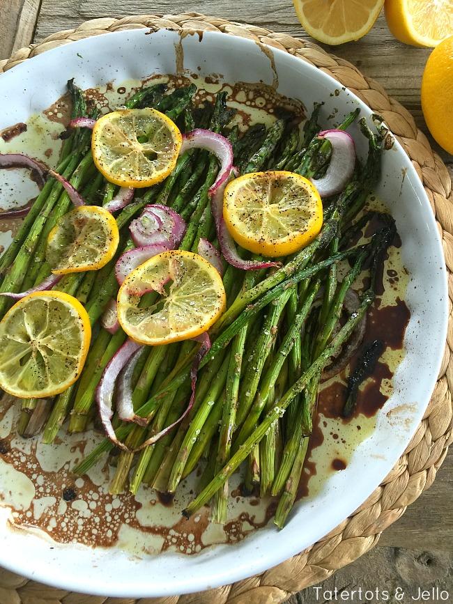 Lemon Balsamic Roasted Asparagus Recipe