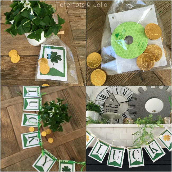 Lucky St. Patrick's Day Banner Printables