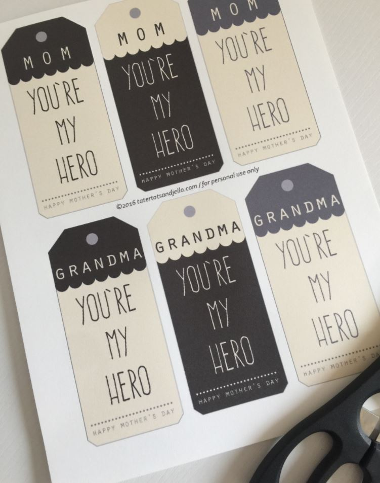 mother's day superhero printables