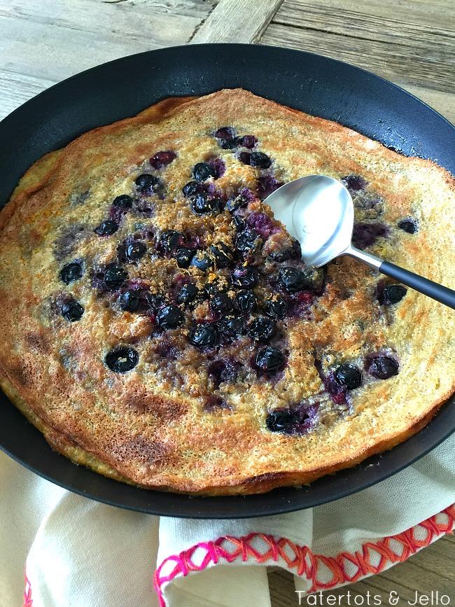 oatmeal and fruit breakfast souffle