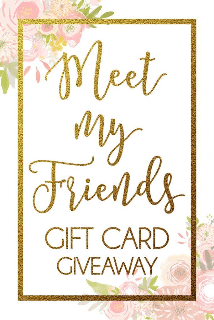 meet my friends giveaway