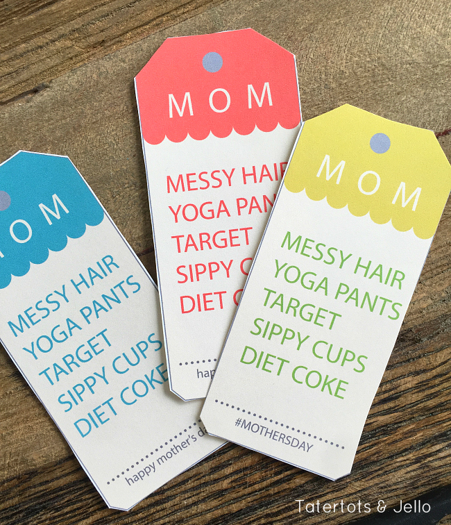 Messy Hair Mom Gift Tags