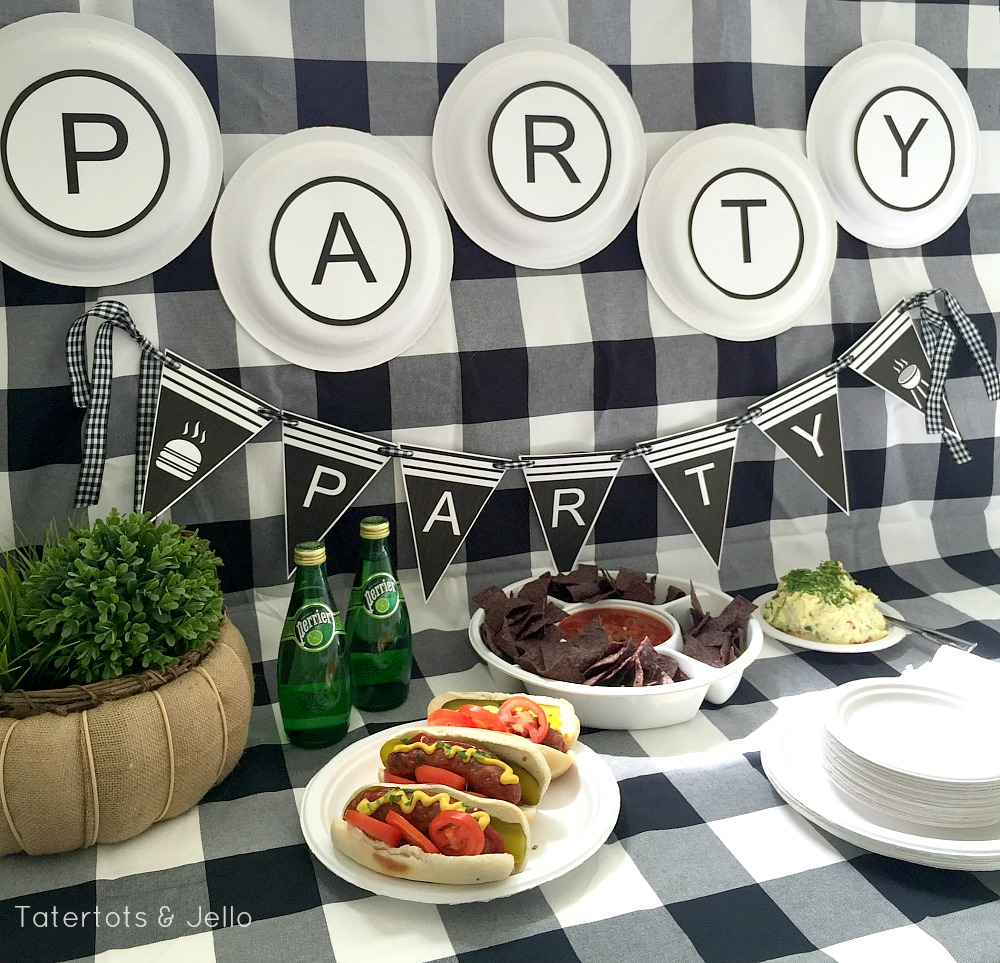 Free BBQ party ideas and printables