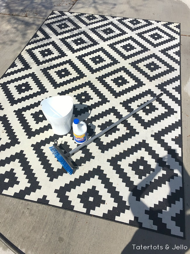 Cleaning a moldy outdoor rug