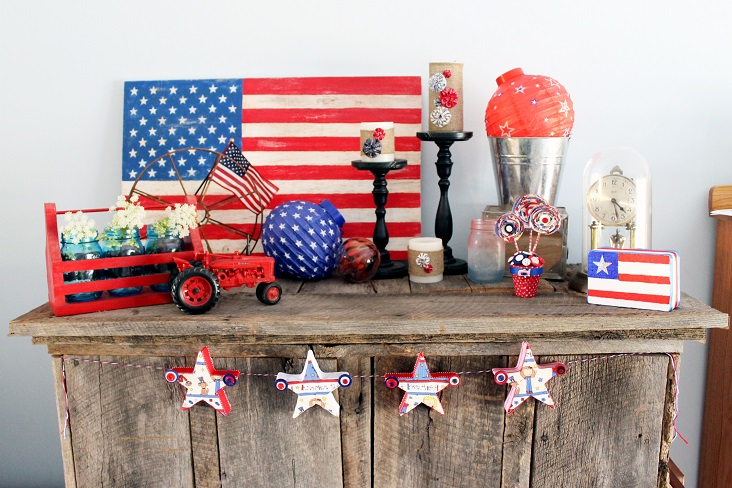 Patriotic Decor For Home: Great Ideas -- 20 Patriotic Projects Part Two