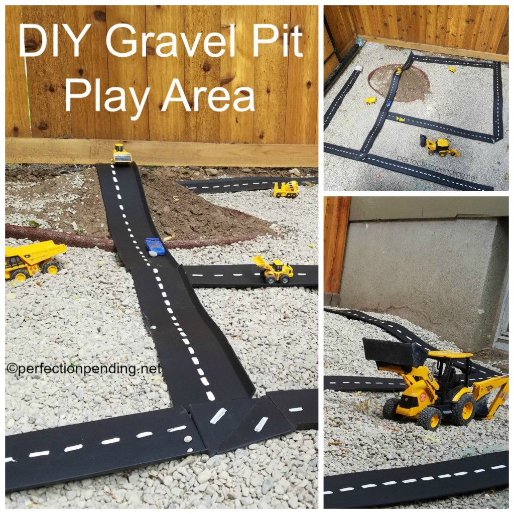 DIY Gravel Pit Play Area Collage