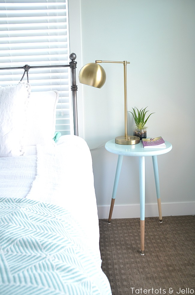 diy modern dipped nightstands