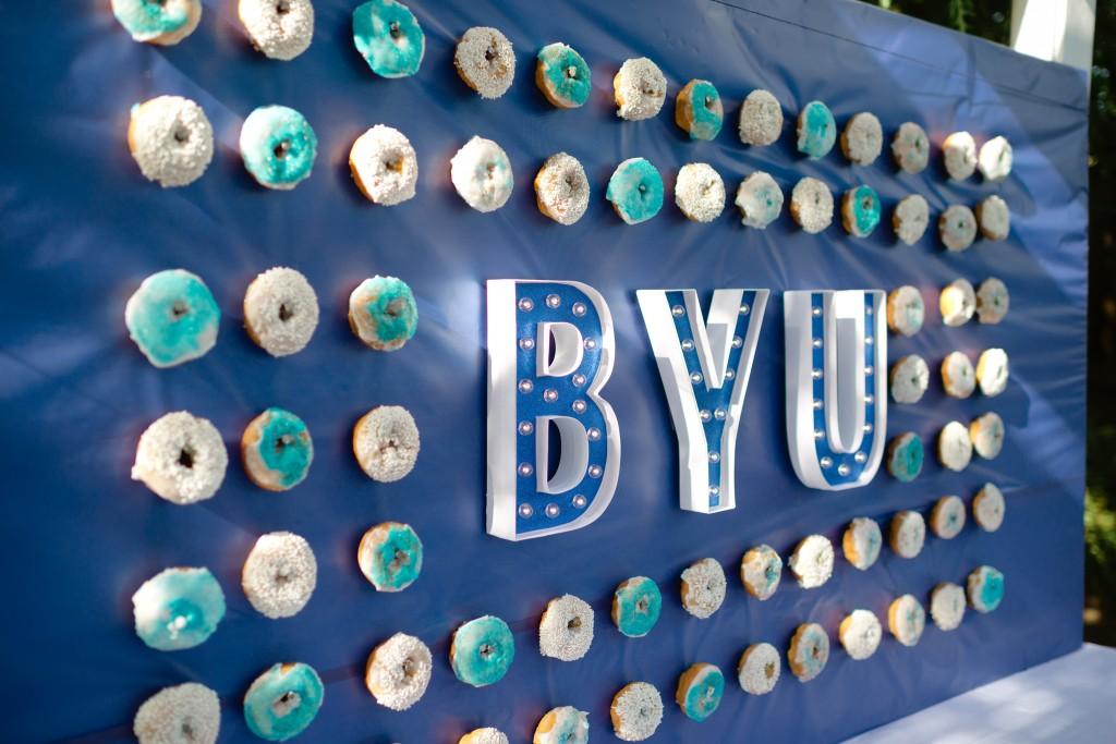 graduation donut backdrop