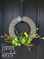 Summer Striped Succulent Wreath