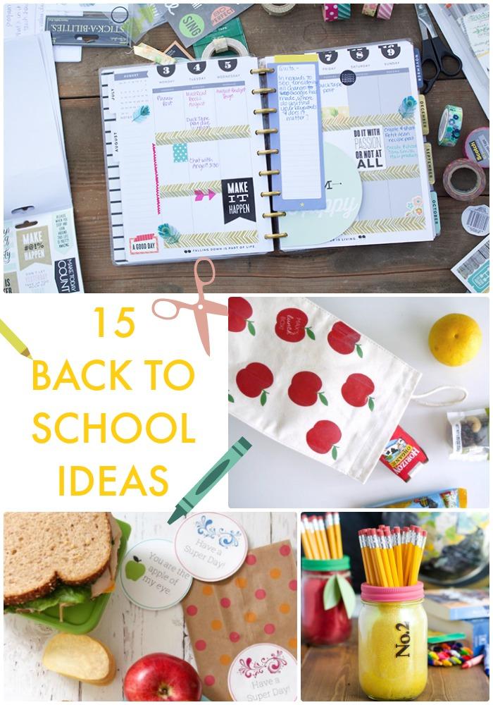 15 Back to School Ideas