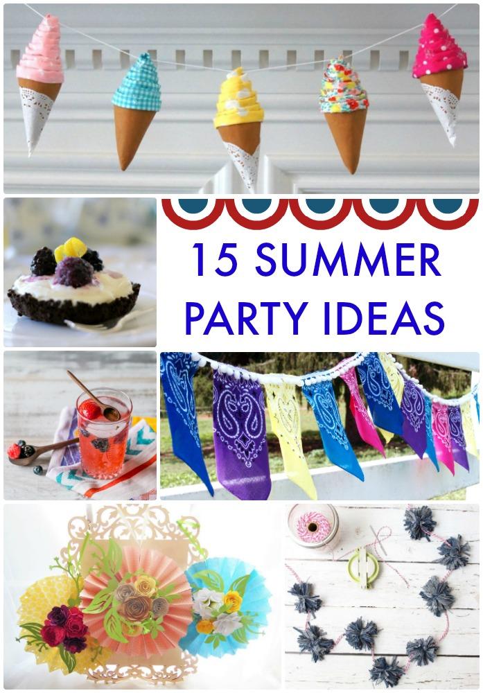 15 Summer Party Ideas