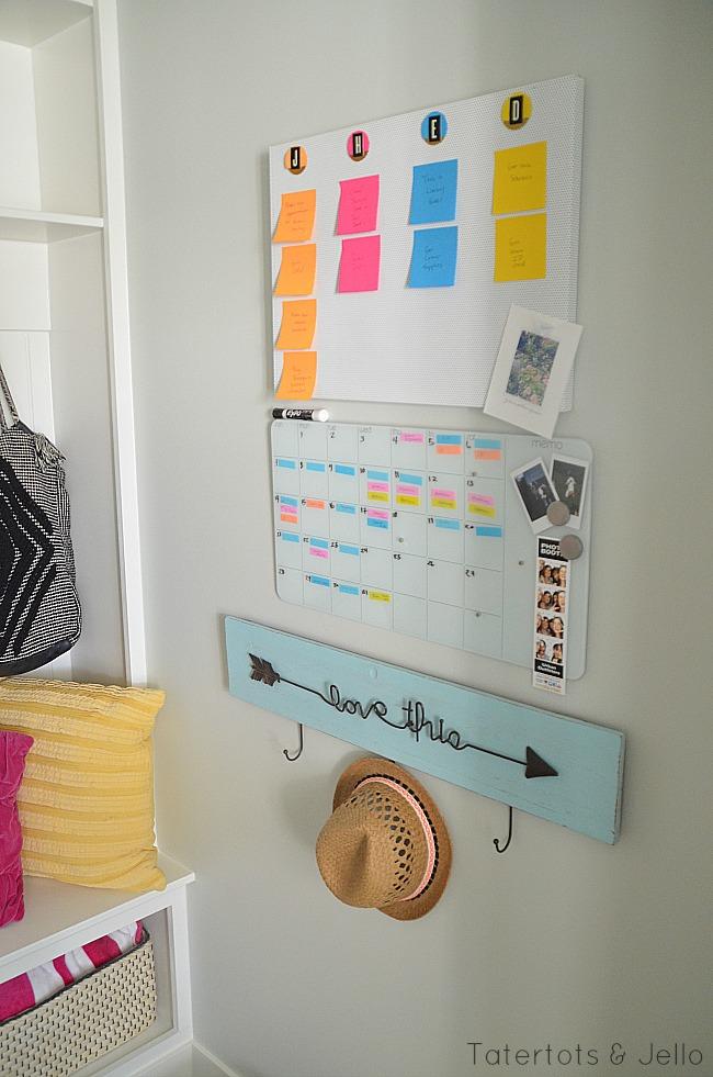 back to school organizing calendar