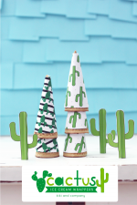 Cactus Ice Cream Party Wrapper Printables
