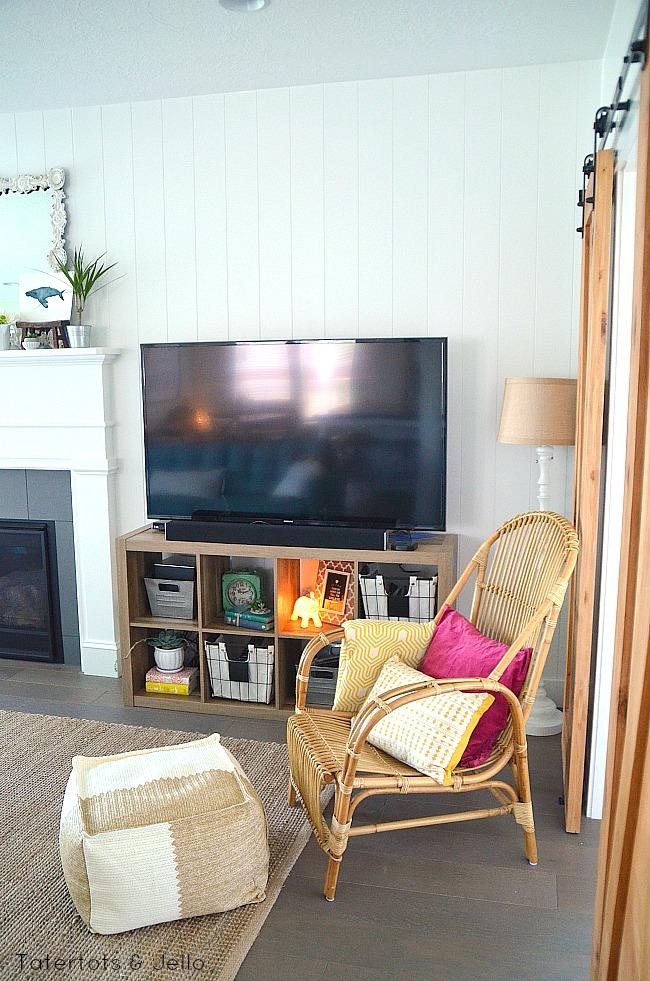 family room beachy console
