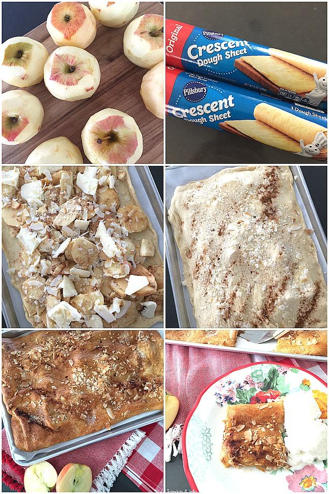 apple coconut croissant tart recipe