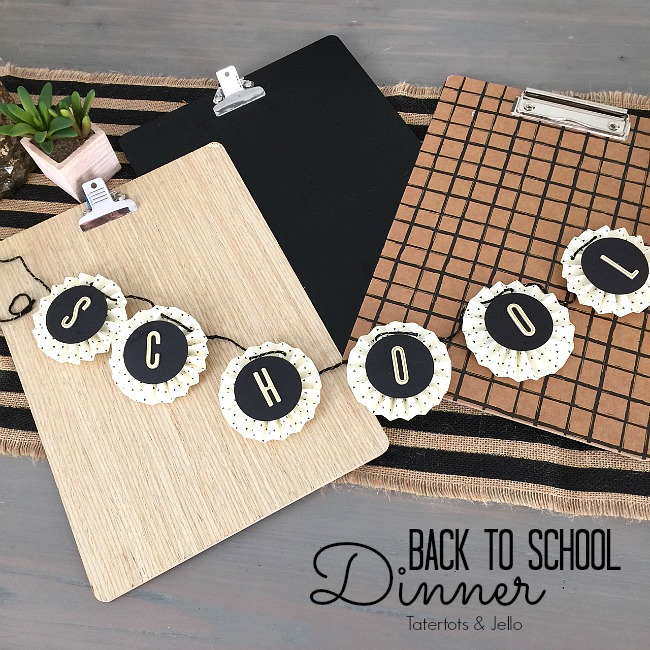 back to school dinner party ideas
