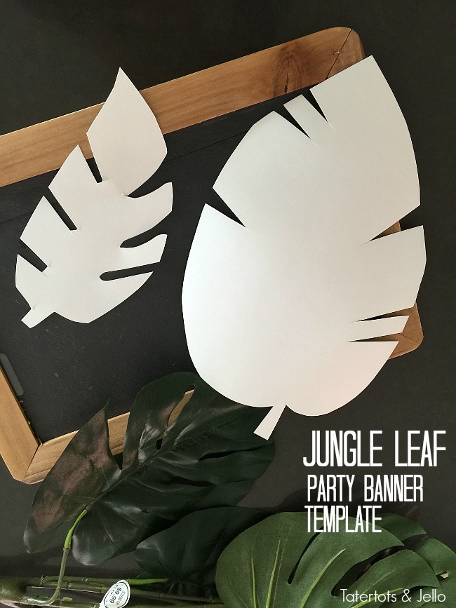 jungle leaf party banner templates
