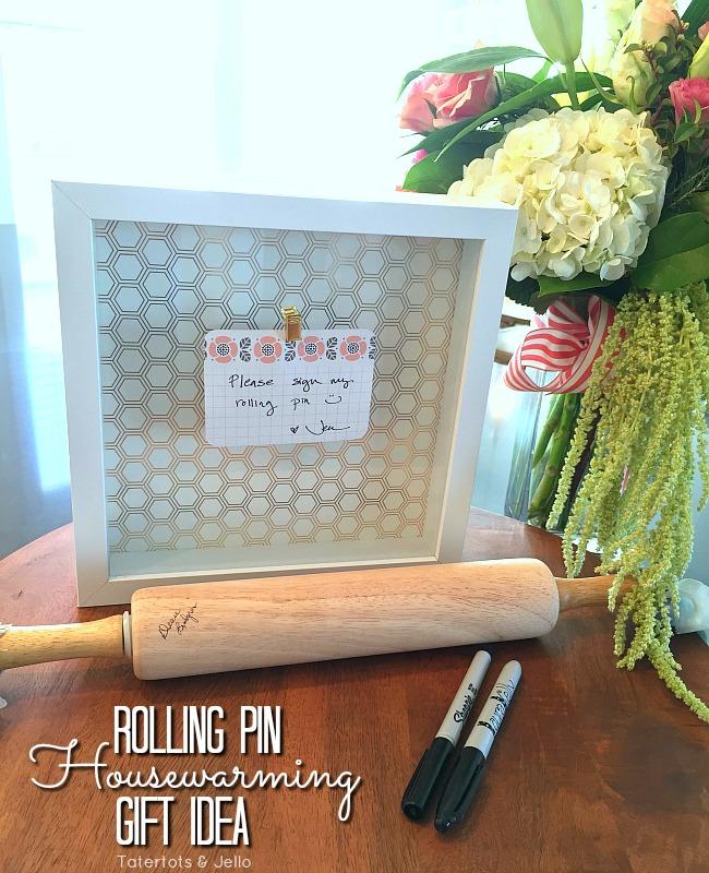 rolling pin housewarming gift idea