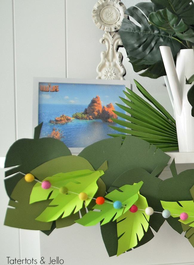 wild life movie party garland and free jungle leaf templates