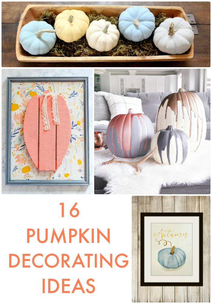 Great Ideas -- 16 Pumpkin Decorating Ideas!