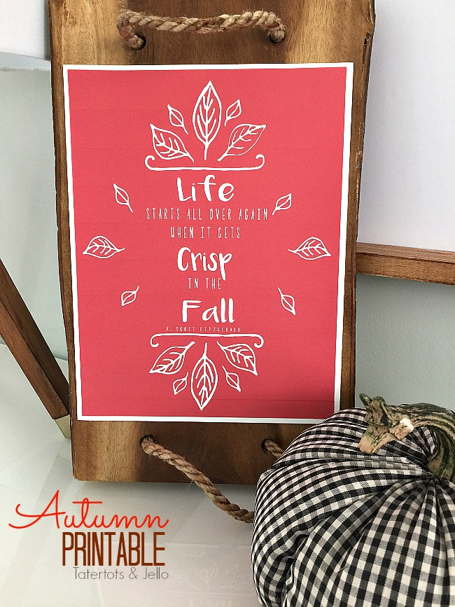autumn fall printable