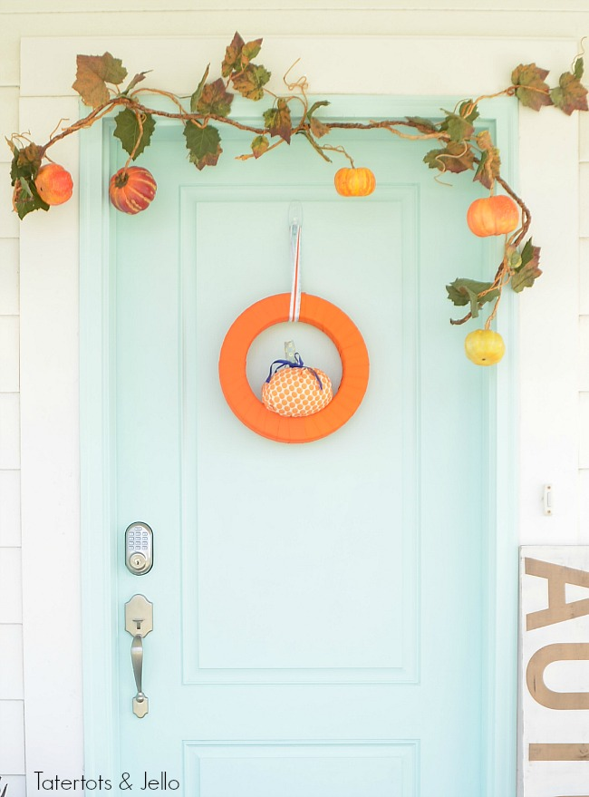 colorful wreath for a fall porch