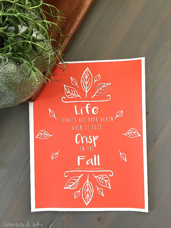 crisp fall autumn printable