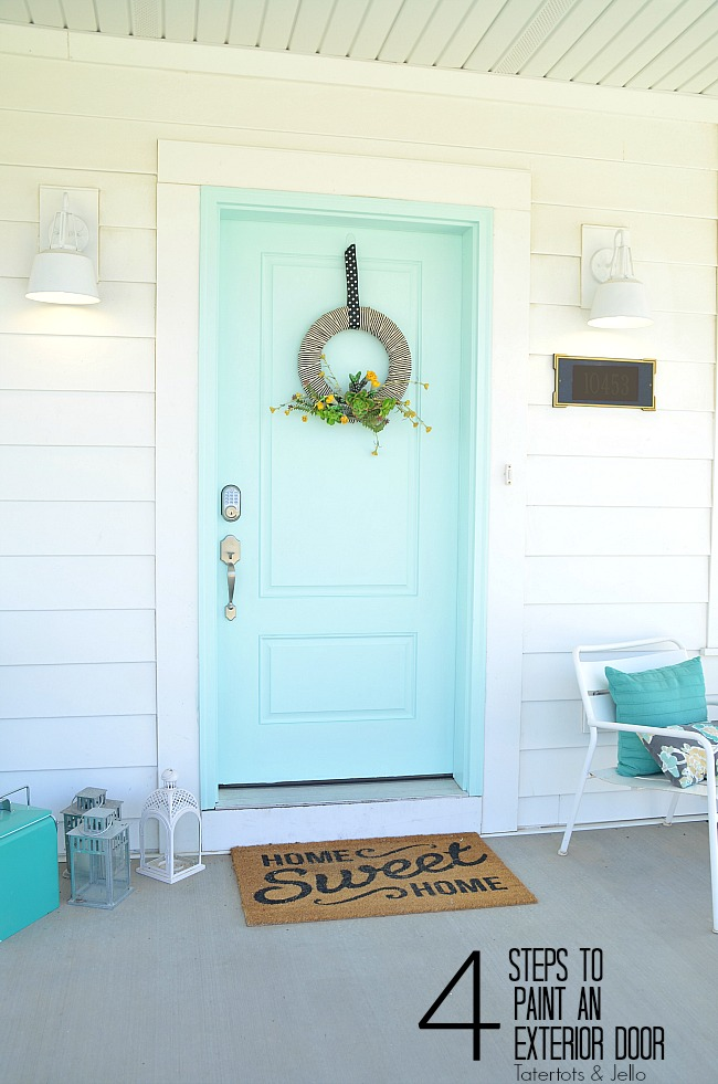 Four easy steps to follow to paint your front door