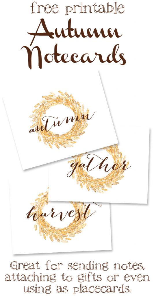 Free printable Fall farmhouse-style signs. Print off these free, gorgeous wheat wreath signs and use them to decorate your home for Autumn!!